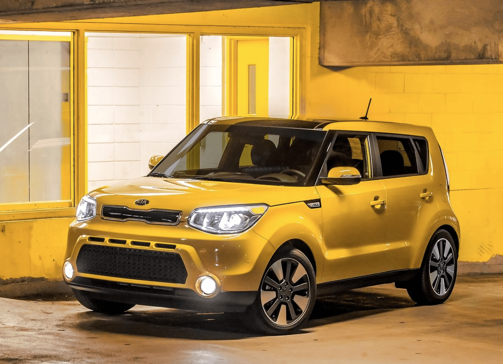 Kia Soul yellow
