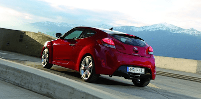 2012 Hyundai Veloster Rear Red