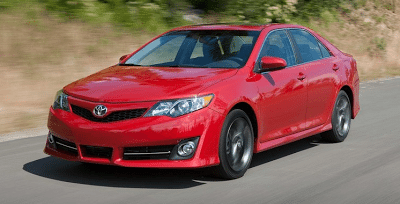 2012 Toyota Camry best-selling car