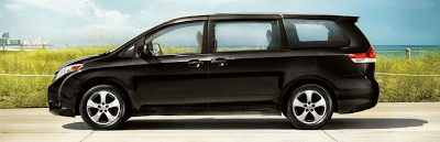 2012 Toyota Sienna profile beach