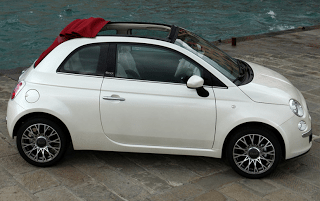 2010 Fiat 500C Roof Action
