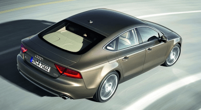 2012 Audi A7 view from above