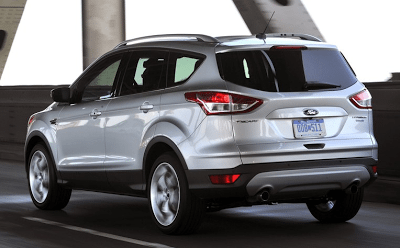 2013 Ford Escape silver rear