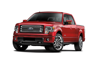 Red 2013 Ford F-150 Limited