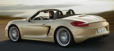 2013 Porsche Boxster S rear three quarter view