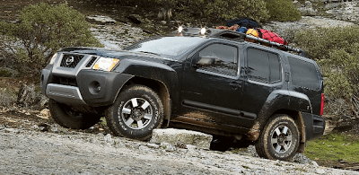 2012 Nissan Xterra black side view