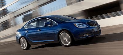 2013 Buick Verano Turbo blue front-side view