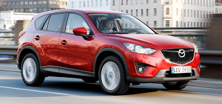2013 Mazda CX-5 red driving
