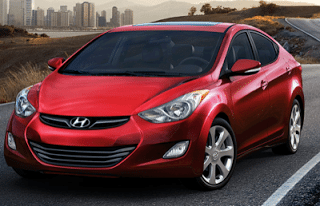 2013 Hyundai Elantra sedan red