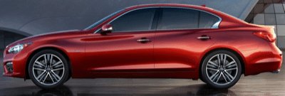 2014 Infiniti Q50 Red Profile view