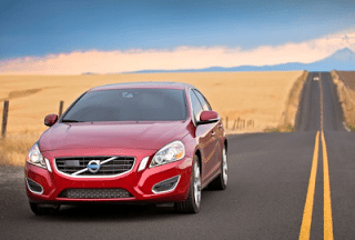2011 Volvo S60 red country road