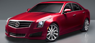 2013 Cadillac ATS crystal red