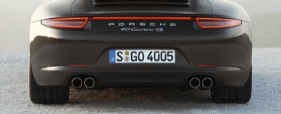 2013 Porsche 911 Carrera 4S Coupe Brown Rear View