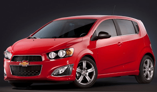 2013 Chevrolet Sonic RS Red