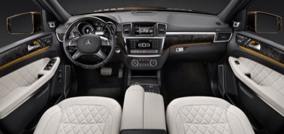 2013 Mercedes-Benz GL550 Interior quilted leather