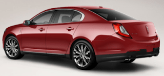 2013 Lincoln MKS EcoBoost AWD ruby red