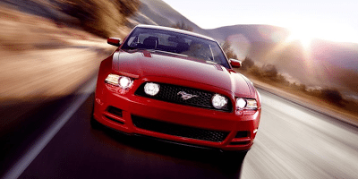 2013 Ford Mustang GT red front end