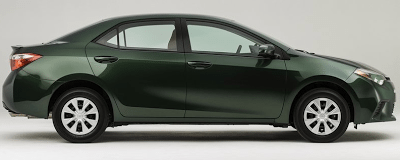 2014 Toyota Corolla green side view