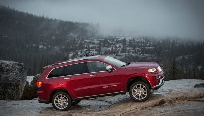 2014 Jeep Grand Cherokee red