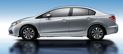 2013 Honda Civic sedan silver