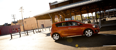 2013 Chevrolet Sonic hatchback orange