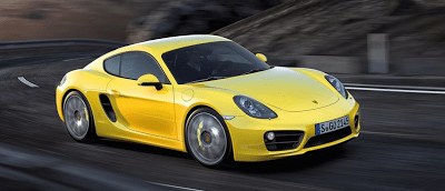 2014 Porsche Cayman yellow