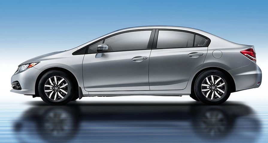 2014 Honda Civic silver sedan