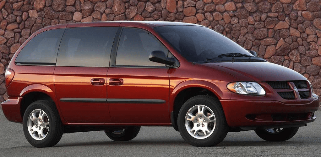 2004 Dodge Caravan red short wheelbase