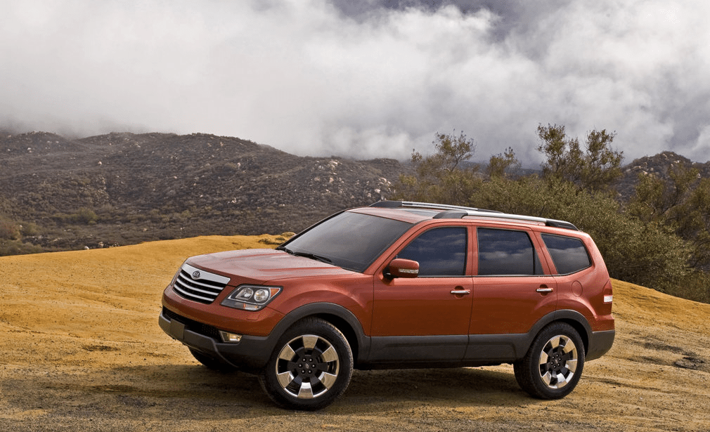 2009 Kia Borrego orange