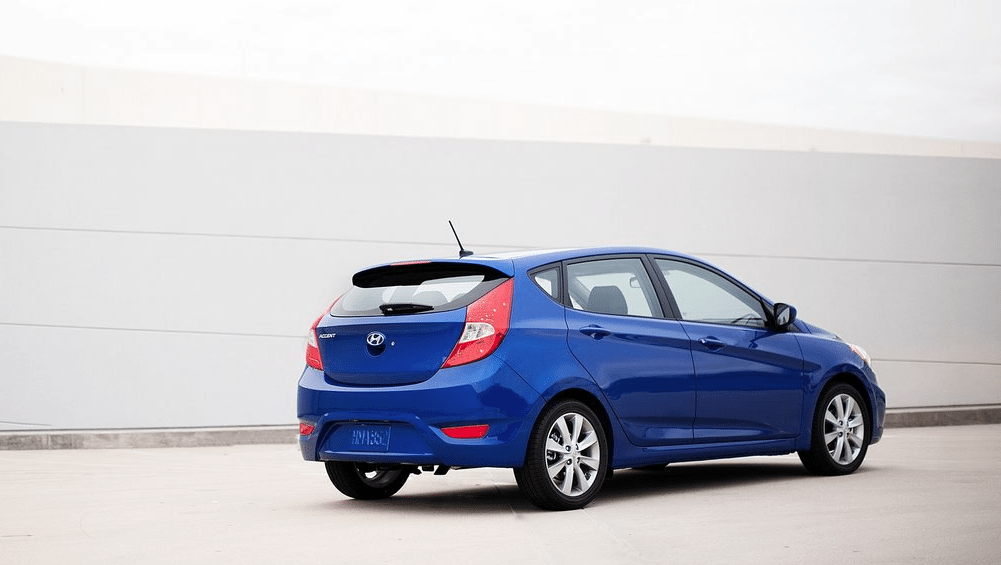2012 Hyundai Accent hatchback blue