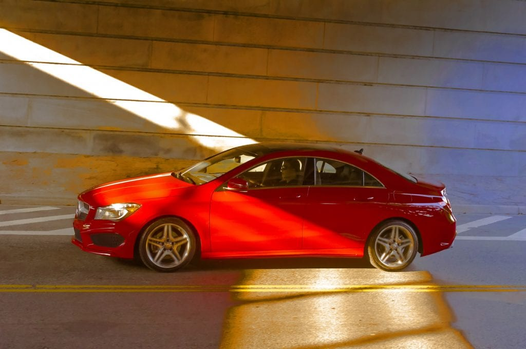 2014 Mercedes-Benz CLA250 red