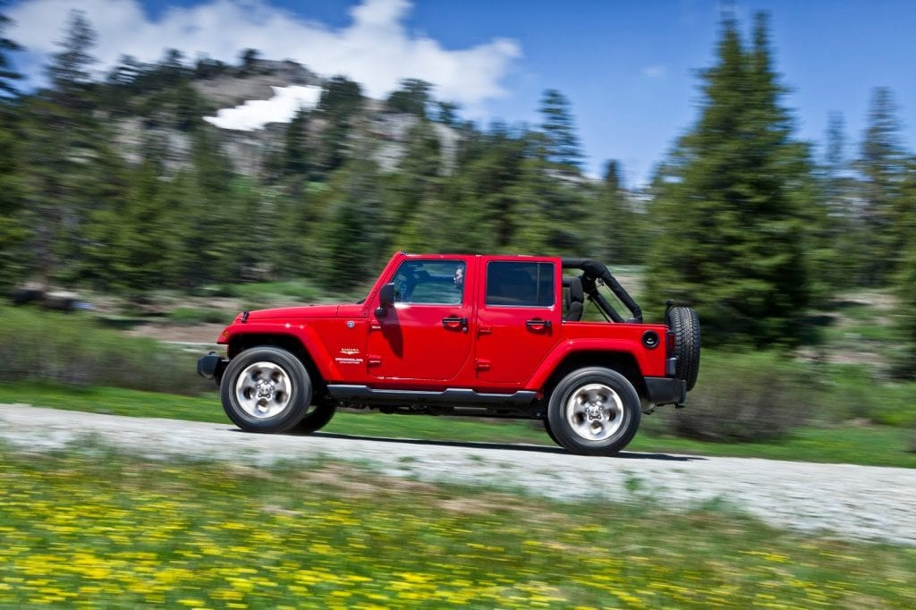 2015 Jeep Wrangler Unlimited red topless