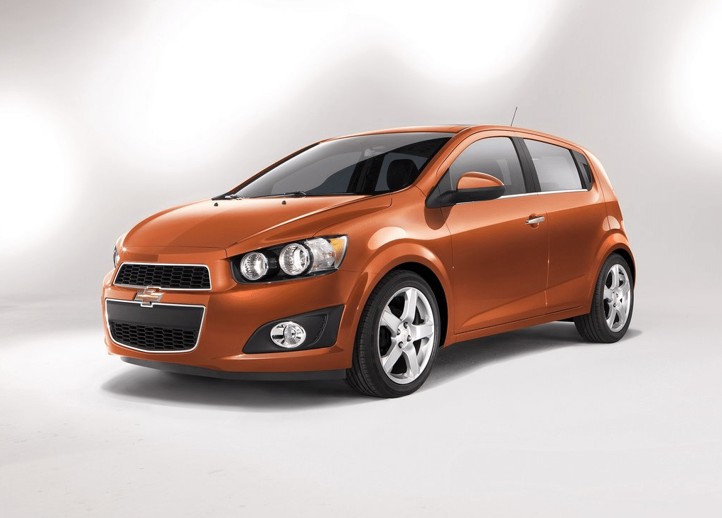 2013 Chevrolet Sonic orange hatchback