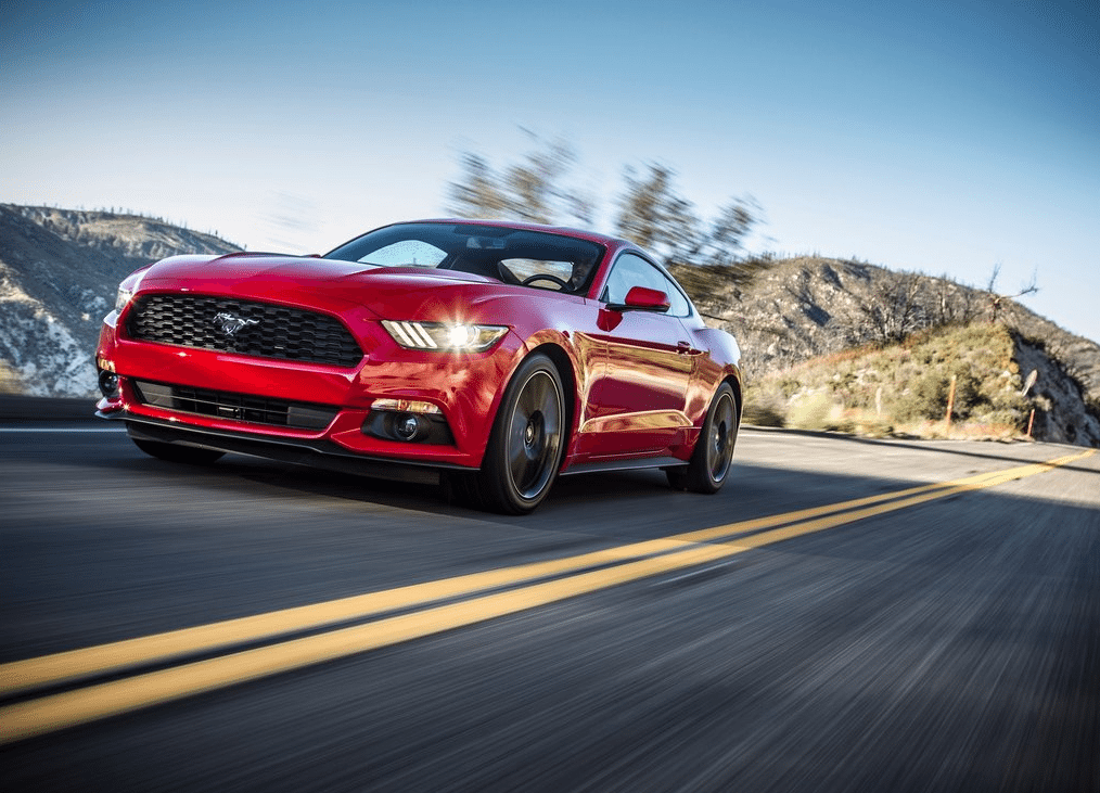 2015 Ford Mustang EcoBoost red