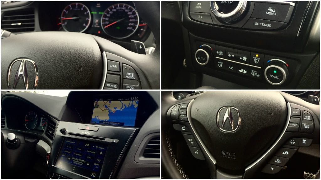 2016 Acura ILX A-Spec interior collage