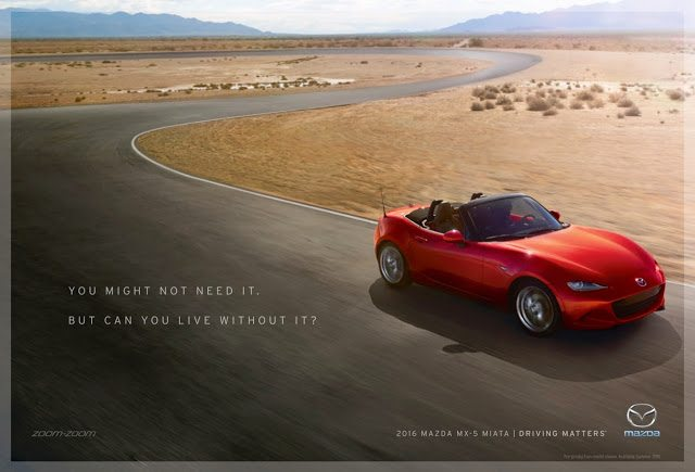 2016 Mazda MX-5 Driving Matters advertisement