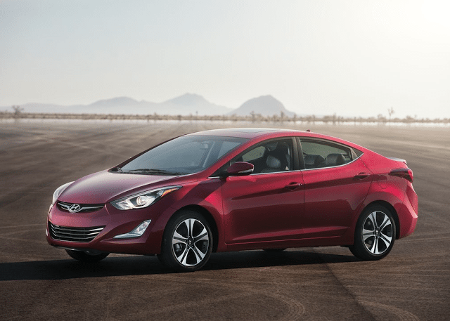 2014 Hyundai Elantra sedan red