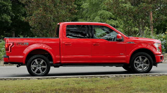 2015 Ford F-150 FX4 red crew cab