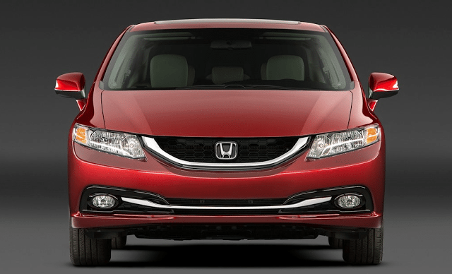 2013 Honda Civic sedan red front