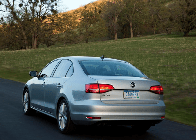 2015 Volkswagen Jetta sedan silver rear