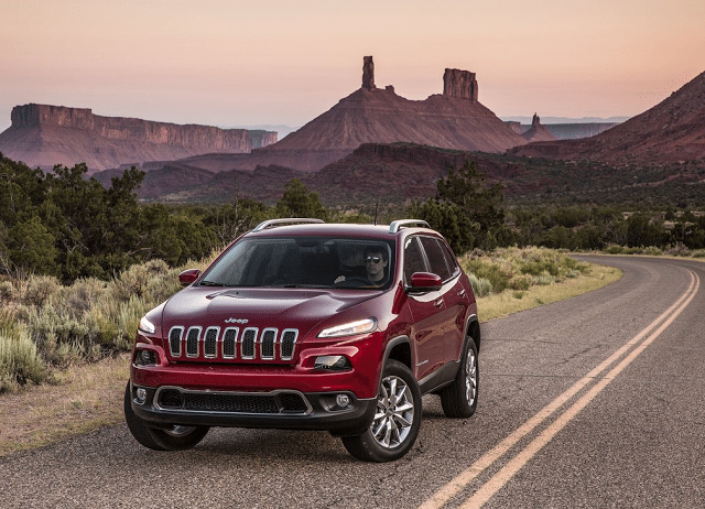 2014 Jeep Cherokee red