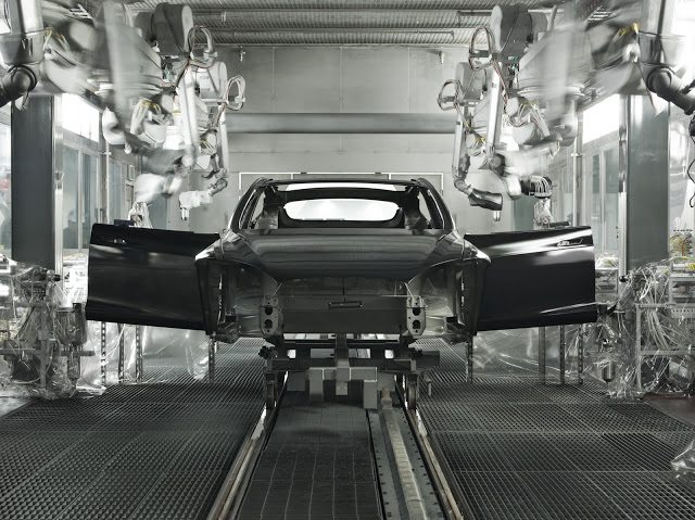Tesla factory Model S production