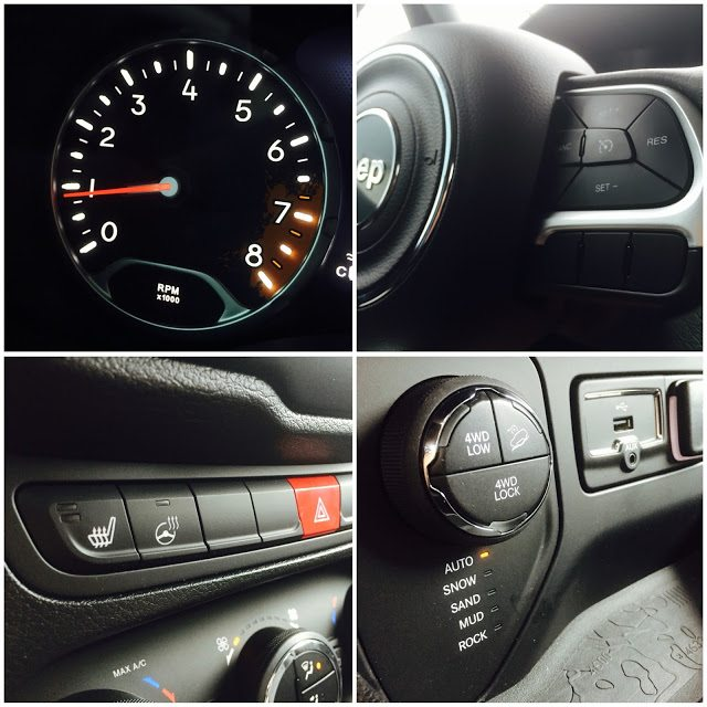 2015 Jeep Renegade interior collage