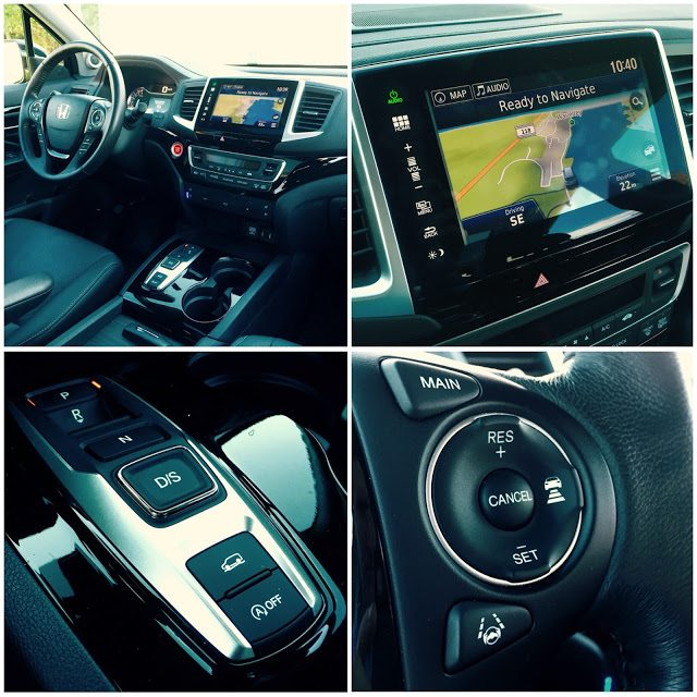 2016 Honda Pilot interior collage