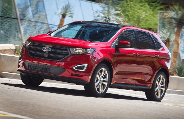 2015 Ford Edge red
