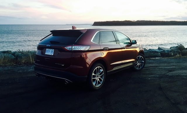 2016 Ford Edge Titanium Bronze Fire rear