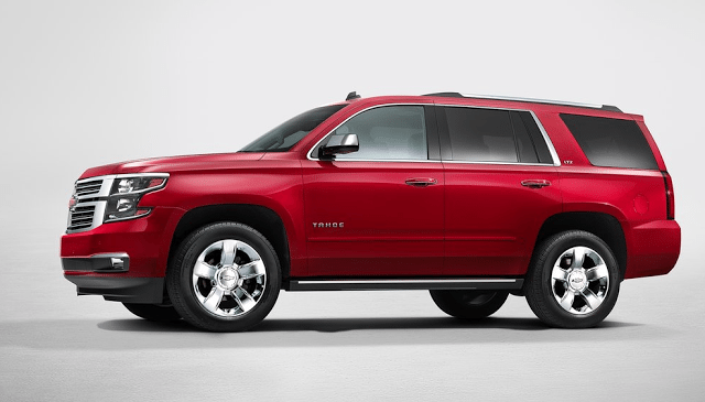 2015 Chevrolet Tahoe red