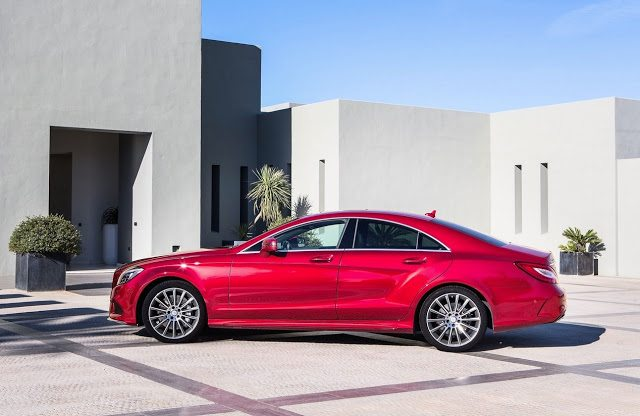 2015 Mercedes-Benz CLS-Class red