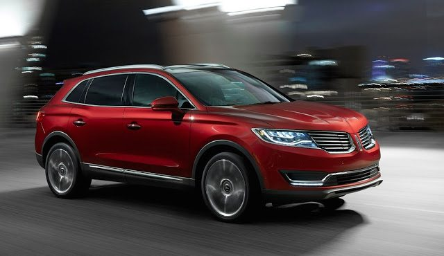 2016 Lincoln MKX red