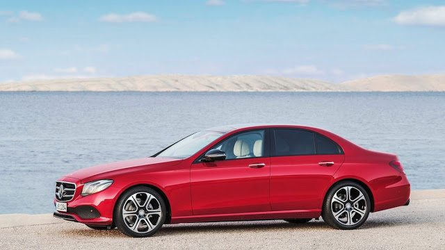 2017 Mercedes-Benz E-Class sedan red